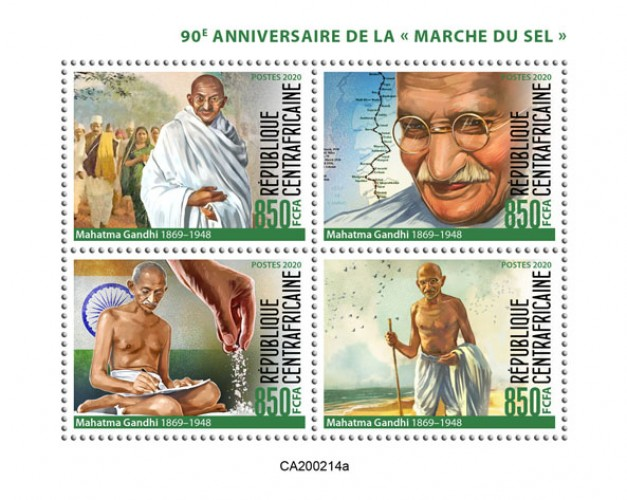 [The 90th Anniversary of the Salt March - Mahatma Gandhi, 1869-1948, type ]
