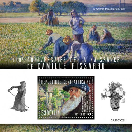 [The 190th Anniversary of the Birth of Camille Pissarro, 1830-1930, type ]