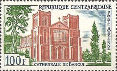 [Airmail - Bangui Cathedral, type AZ]