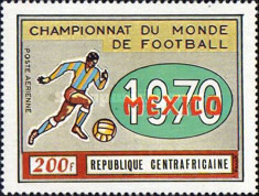 [Airmail - Football World Cup - Mexico, type HM]