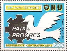 [Airmail - The 25th Anniversary of the United Nations, type HO]
