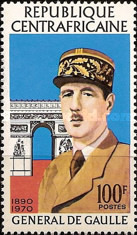 [The 1st Anniversary of the Death of General De Gaulle, 1890-1970, type IG]