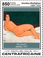 [The 100th Anniversary of the Death of Amedeo Modigliani, 1884-1920, Typ MKH]