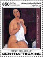 [The 100th Anniversary of the Death of Amedeo Modigliani, 1884-1920, Typ MKJ]