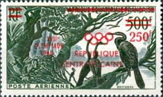 [Airmail - Issue of 1953 of French Equatorial Africa Overprinted with
