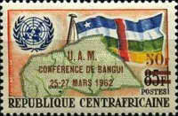 [Union of African States and Madagascar Conference, Bangui - Overprinted