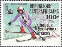 [Airmail - Winter Olympic Medal Winners - Issues of 1979 Overprinted as Listed Below, type YW]