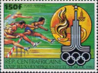 [Airmail - Olympic Games - Moscow, USSR, type ZH]
