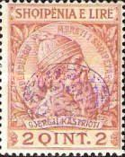 [Skanderberg Issue of 1913 Surcharged and/or Overprinted in Different Colors, tyyppi A]