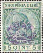 [Skanderberg Issue of 1913 Surcharged and/or Overprinted in Different Colors, tyyppi A5]