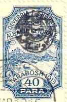 [Not Issued Albanian Postage Stamps from 1913 Overprinted, tyyppi B4]