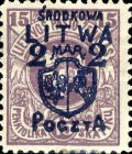[Lithuanian Postage Stamps Surcharged, type B]