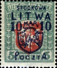 [Lithuanian Postage Stamps Surcharged, type B10]
