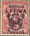 [Lithuanian Postage Stamps Surcharged, type B2]