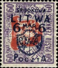 [Lithuanian Postage Stamps Surcharged, type B6]