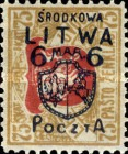 [Lithuanian Postage Stamps Surcharged, type B7]
