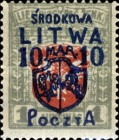 [Lithuanian Postage Stamps Surcharged, type B8]