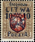 [Lithuanian Postage Stamps Surcharged, type B9]