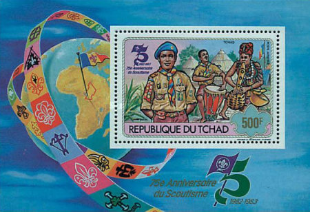 [Airmail - The 75th Anniversary of Scout Movement, type ]