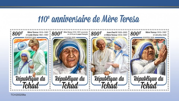 [The 110th Anniversary of the Birth of Mother Teresa, 1910-1997, type ]