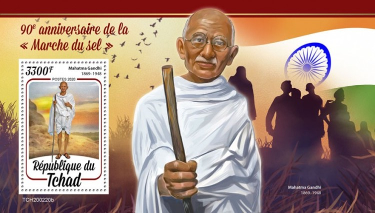 [The 90th Anniversary of the Salt March of Mahatma Gandhi, 1869-1948, type ]