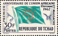 [The 1st Anniversary of Union of African and Malagasy States, type AM]