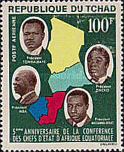 [Airmail - The 5th Anniversary of Equatorial African Heads of State Conference, type BJ]