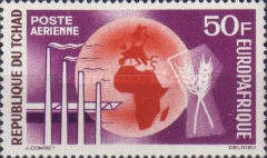 [Airmail - Europafrique, type BK]