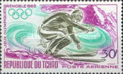 [Airmail - Winter Olympic Games - Grenoble, France, type EG]