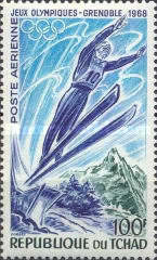 [Airmail - Winter Olympic Games - Grenoble, France, type EH]