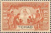 "[""Colonial Exhibition"" Key-types Inscribed ""TCHAD"", type I]"