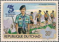 [The 75th Anniversary of Scout Movement, type WV]