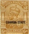 [King George V, 1865-1936 - India Postage Stamp Overprinted
