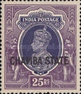 [King George VI, 1895-1952 - India Postage Stamps Overprinted
