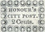 [Inscription: HONOUR'S CITY POST