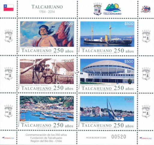 [The 250th Anniversary of the City of Talcahuano, type ]