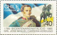 [The 200th Anniversary of the Death of Jose Miguel Carrera Verdugo, 1785-1821, type AFU]
