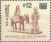 [Chilean Art - Issue of 1985 Surcharged, type AFV1]