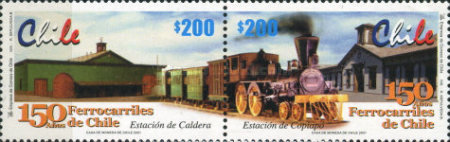 [The 150th Anniversary of Chilean Railways, type BOR]