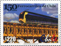 [The 150th Anniversary of Chilean Railways, type BOS]