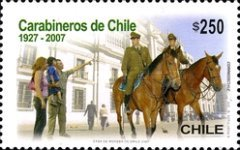 [The 80th Anniversary of the Chilean Police, type BTX]