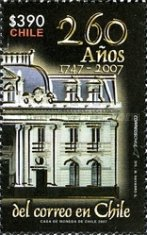 [The 260th Anniversary of Chilean Post, type BVB]