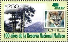 [The 100th Anniversary of Malleco National Reserve, type BVQ]