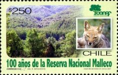 [The 100th Anniversary of Malleco National Reserve, type BVS]