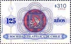[The 125th Anniversary of the Philatelic Society of Chile, type CFZ]
