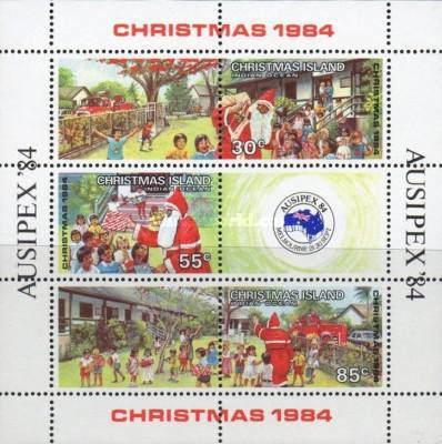 [Christmas - International Stamp Exhibition AUSIPEX '84 - Melbourne, Australia, type ]
