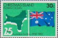 [The 25th Anniversary of the Australian Territory, type FF]