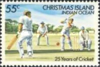 [The 25th Anniversary of Cricket on Christmas Island, type FV]