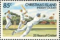 [The 25th Anniversary of Cricket on Christmas Island, type FW]
