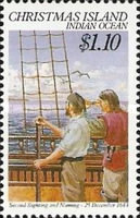 [The 375th Anniversary of the Discovery of Christmas Island, type JR]
